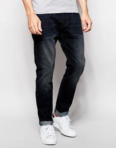 Суженные темные джинсы Esprit - Темно-синий выбеленный