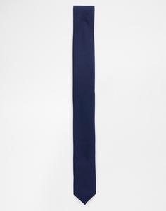 Темно-синий узкий галстук ASOS - Темно-синий
