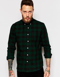 Рубашка в клетку с длинными рукавами ASOS - Зеленый