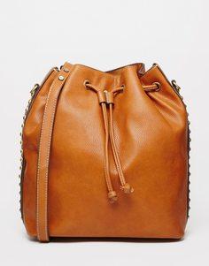 Рюкзак со шнурком Fiorelli Rossini - Коричневые заклепки