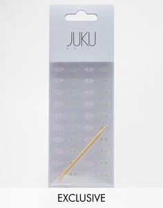Набор треугольных наклеек на ногти Juku Nails эксклюзивно для ASOS - Серые и фиолетовые - Серые и фиолетовые