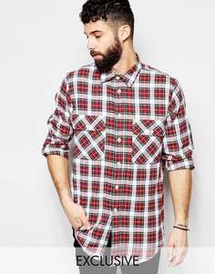Рубашка в клетку Reclaimed Vintage - Белый и красный