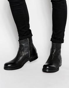 Кожаные ботинки Selected Homme Wayne - Черный