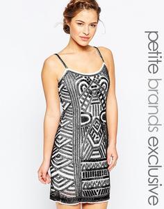 Декорированное цельнокройное платье Maya Petite - Мульти