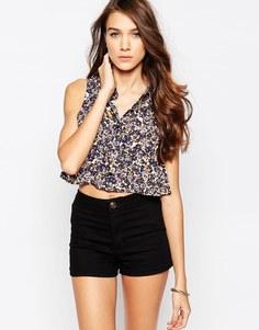 Рубашка без рукавов с принтом Neon Rose - Мульти