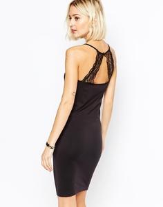 Черное бесшовное платье-сорочка Selected Celena - Черный