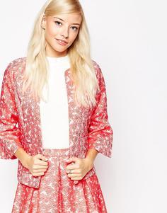 Пиджак из пестрого жаккарда Traffic People - Красный