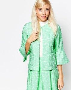 Пиджак из пестрого жаккарда Traffic People - Зеленый