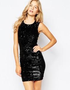Облегающее платье с пайетками Vero Moda - Черный