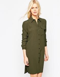 Платье-рубашка с карманами ASOS - Хаки