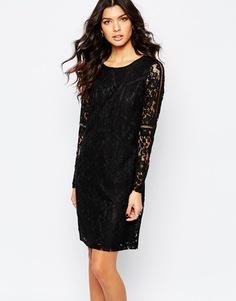 Кружевное платье с длинными рукавами Y.A.S Rhona - Черный