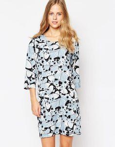 Платье с принтом и рукавами 3/4 Soaked In Luxury - 907 узор
