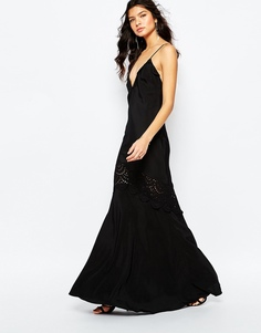 Черное платье макси The Jetset Diaries Amore - Черный