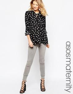Укороченные джинсы скинни для беременных ASOS Maternity Ridley - Серый