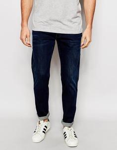 Темные эластичные джинсы слим Replay - Темный индиго