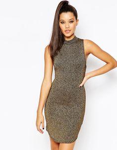 Облегающее платье без рукавов Missguided - Bronze