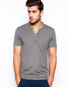 Винтажная футболка из хлопка пима Selected Homme - Серый