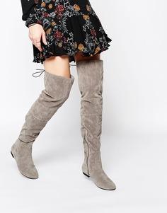 Серые ботфорты на плоской подошве Daisy Street - Серый