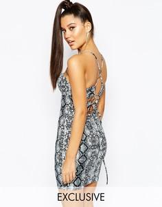 Облегающее платье с ремешками на спинке NaaNaa - Snake