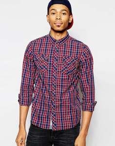 Рубашка в клетку с нагрудными карманами Tokyo Laundry - Красный