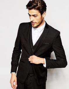 Пиджак зауженного кроя Vito - Черный