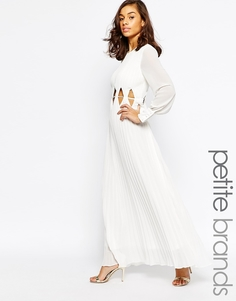 Платье макси с длинными рукавами и вырезами на талии True Decadence Petite - Белый