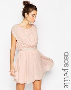 Платье мини ASOS PETITE - Телесный