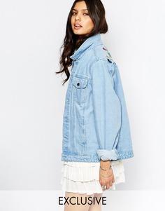 Куртка с пестрой цветочной вышивкой Liquor & Poker - Синий