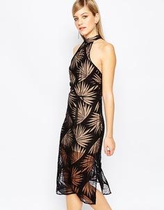 Черное платье с пальмовым принтом Finders Keepers Heirloom - Черный