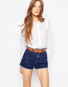 Рубашка с фигурной кромкой M.i.h Jeans - Белый