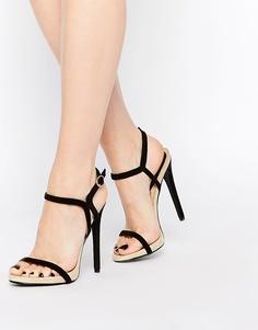 Легкие сандалии из двух частей на каблуке Daisy Street - Черный