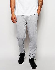 Светло-серые зауженные джинсы из легкой меланжевой ткани ASOS - Светло-серый меланж