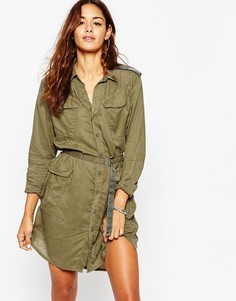 Платье-рубашка в стиле милитари G Star Rovic - Хаки