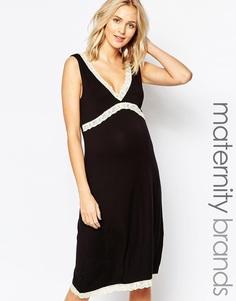 Ночная рубашка для беременных Emma Jane - Черный