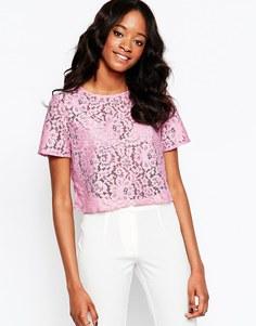 Кружевной топ Glamorous - Pink lace
