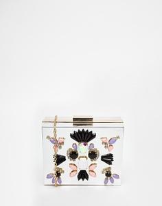 Серебристый зеркальный клатч-футляр Skinnydip Occasion - Серебряный