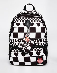 Рюкзак с принтом Love Moschino - Черный