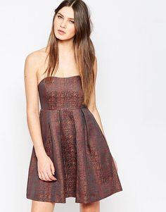 Платье мини без бретелек Studio 75 Paisey - Со сплошным принтом
