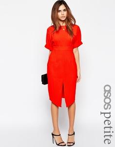 Платье с разрезом спереди ASOS PETITE - Красный