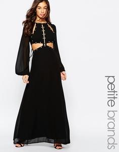 Платье макси с вырезами Jarlo Petite Venus - Черный