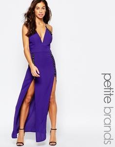 Платье макси с отделкой люверсами Jarlo Petite Roxy - Фиолетовый