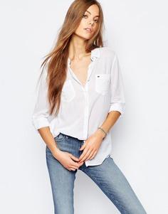 Рубашка шамбре Hilfiger Denim - Белый