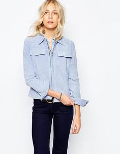 Замшевая куртка на молнии Pepe Jeans - Синий