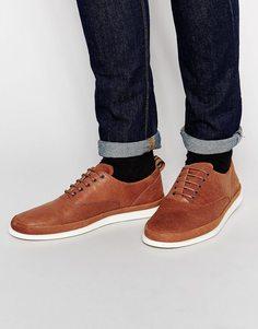 Кожаные кроссовки Fred Perry Lawson - Коричневый