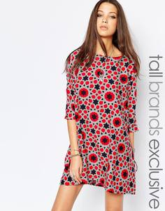 Цельнокройное платье в звездочку Noisy May Tall - Мульти
