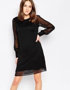 Цельнокройное платье Vila - Черный