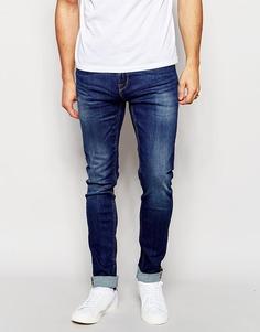 Супероблегающие джинсы в винтажном стиле Only & Sons - Умеренный синий