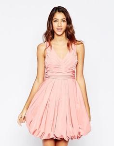Розовое платье с пышной короткой юбкой Studio 75 Darla - Розовый рассвет