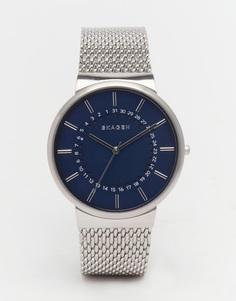 Серебристые часы из нержавеющей стали Skagen SKW6234 - Серебряный