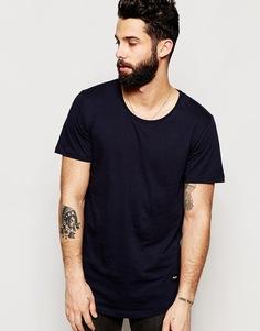 Удлиненная футболка Only & Sons - Темно-синий